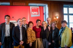 Ein starkes Team: Florian von Brunn, Dr. Mike Malm, Michael Ott, Diana Stachowitz, Isabell Zacharias, Natascha Kohnen, Florian Ritter, Ruth Waldmann, Micky Wenngatz (v.l.)