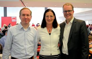 Mike Malm, Landtagskandidat im Münchner Nordosten, Claudia Tausend und Markus Rinderspacher