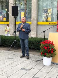 Oberbürgermeister hält die Ansprache