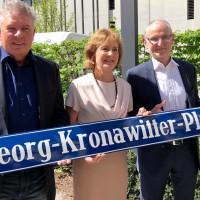 Georg-Kronawitter-Platz mit Dieter Reiter, Hildegard Kronawitter und Axel Markwardt