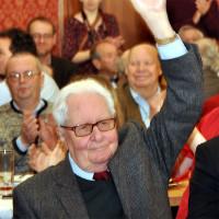 Hans-Jochen Vogel auf dem Dreikönigstreffen der Münchner SPD