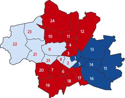 Karte Bezirksausschuesse