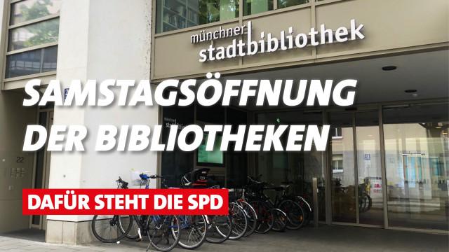 Münchner Stadtbibliotheken öffnen samstags