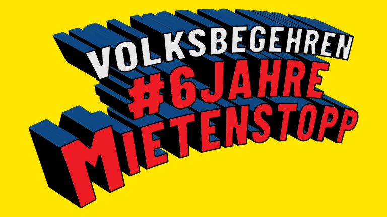 Banner Volksbegehren Mietenstopp