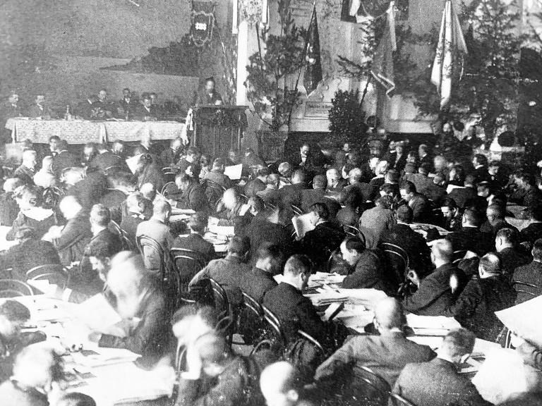 Parteitag der Münchner SPD am 14. September 1902 in der Schwabing Brauerei